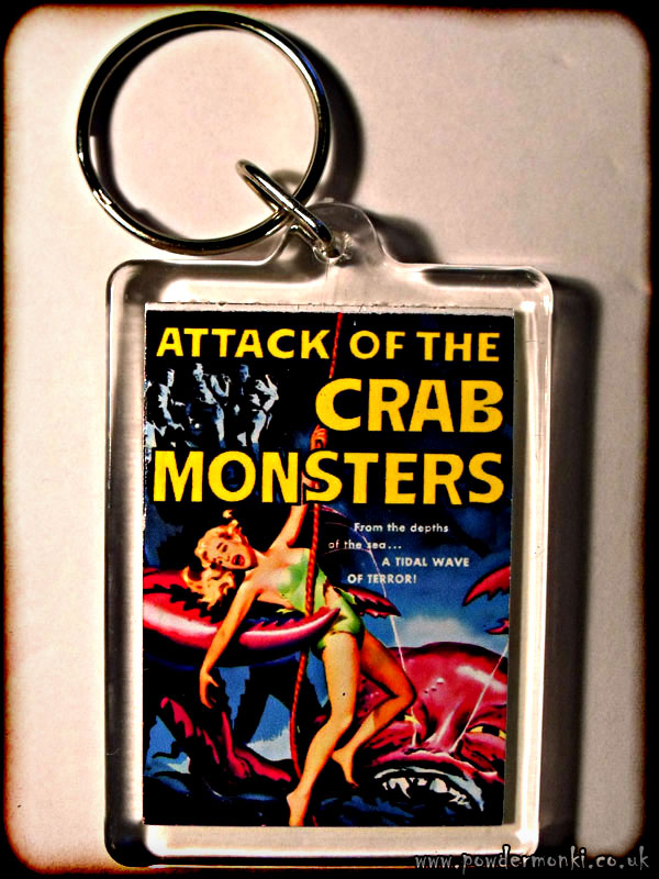 Attack Of The Crab Monsters - Retro B-Movie Keyring