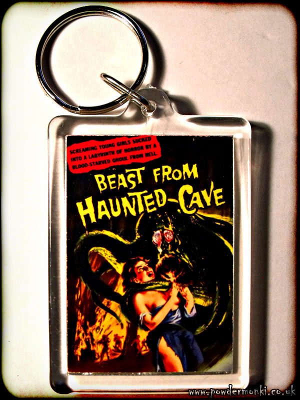 Beast From Haunted Cave - Retro B-Movie Keyring