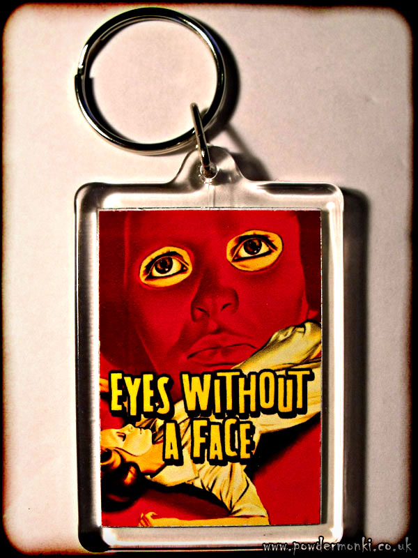 Eyes Without a Face - Retro B-Movie Keyring