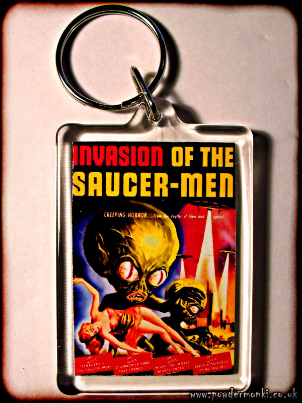 Invasion Of The Saucer-Men - Retro B-Movie Keyring