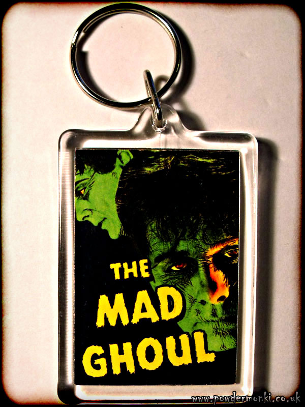 The Mad Ghoul - Retro B-Movie Keyring