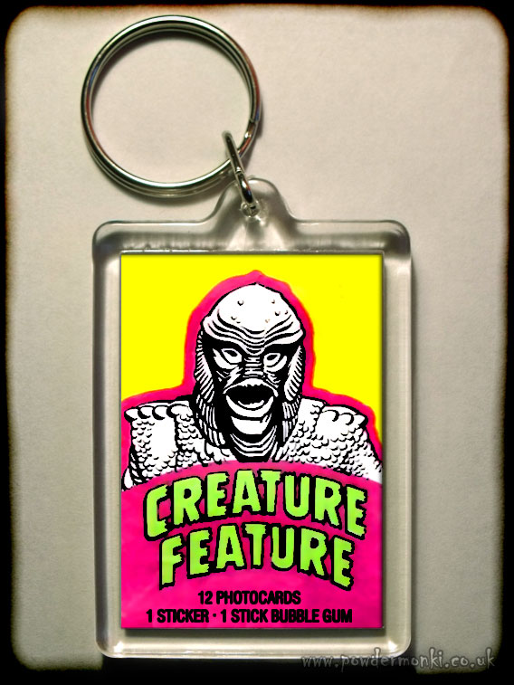"Creature Feature ""Black Lagoon"" - Retro Bubble Gum Keyring"