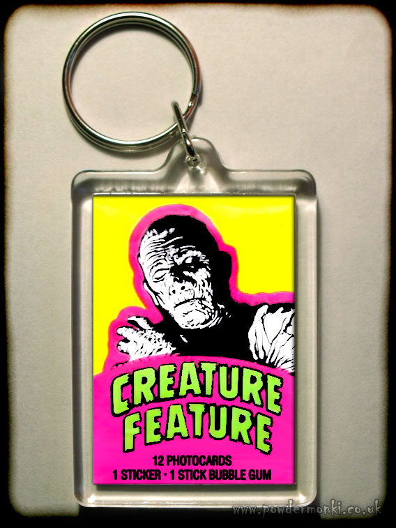 "Creature Feature ""Mummy"" - Retro Bubble Gum Keyring"