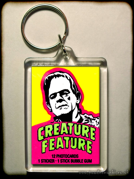 "Creature Feature ""Frankenstein"" - Retro Bubble Gum Keyring"
