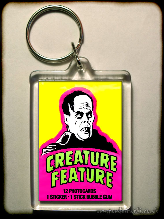 "Creature Feature ""Phantom"" - Retro Bubble Gum Keyring"