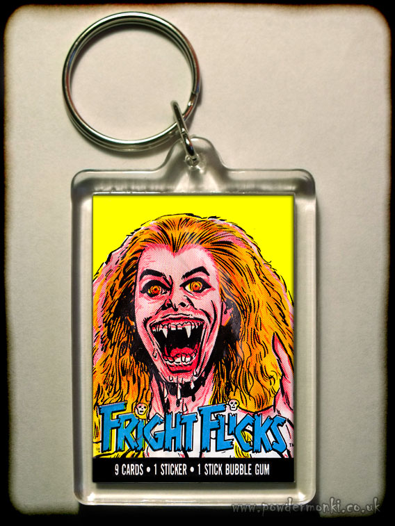 "Fright Flicks ""Fright Night"" - Retro Bubble Gum Keyring"