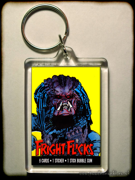 "Fright Flicks ""Predator"" - Retro Bubble Gum Keyring"