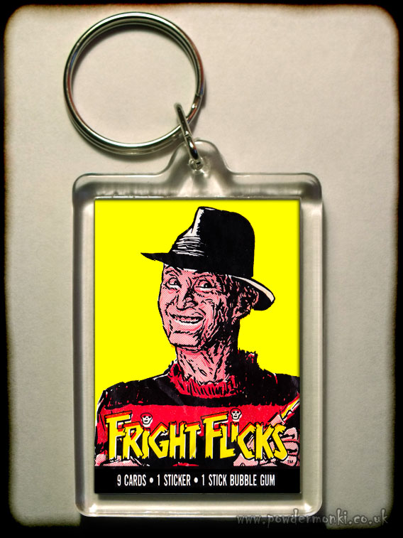 "Fright Flicks ""Freddy Krueger"" - Retro Bubble Gum Keyring"