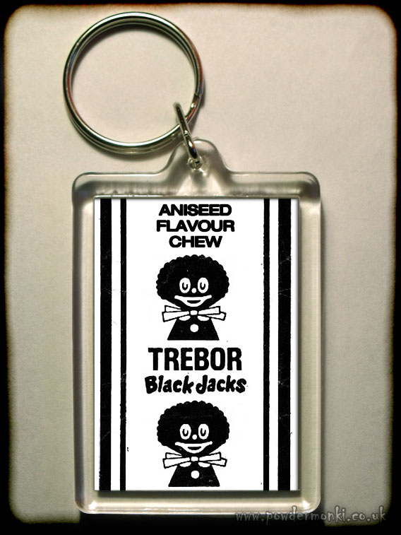 Black Jacks - Retro Sweets Keyring