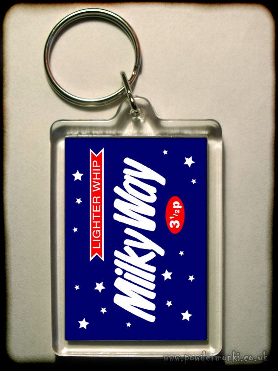 Milky Way - Retro Sweets Keyring
