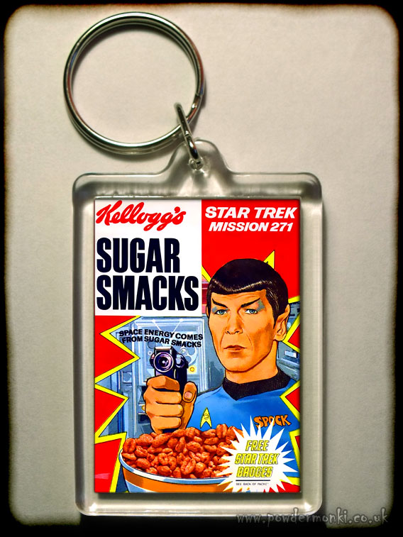 "Sugar Smacks ""Star Trek: Mr Spock"" - Retro Sweets Keyring"