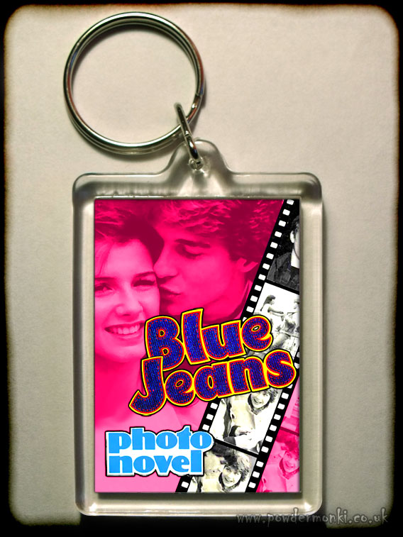 Blue Jeans - Retro Girls Annual Keyring