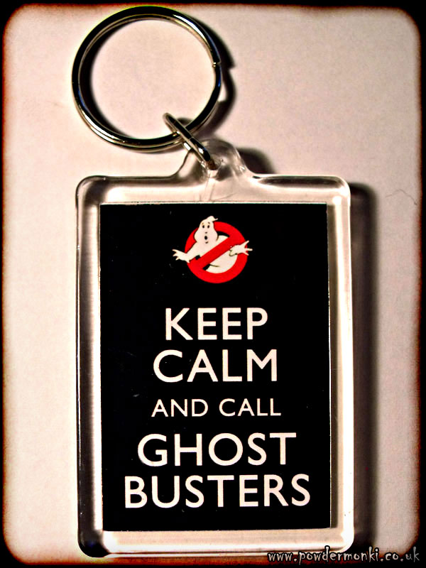 Keep Calm and Call Ghost Busters - Keyring