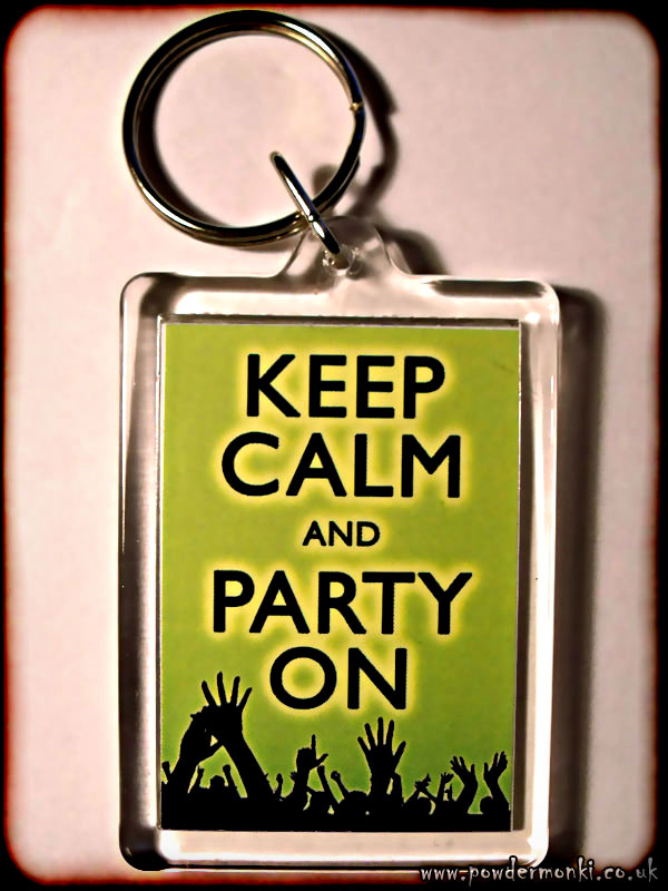 Keep Calm and Party On - Keyring