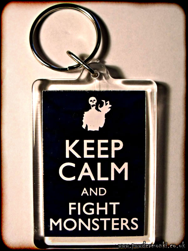 Keep Calm and Fight Monsters - Keyring