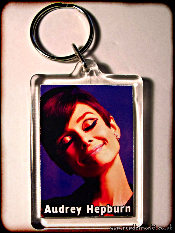 Audrey Hepburn - Retro Movie Star Keyring