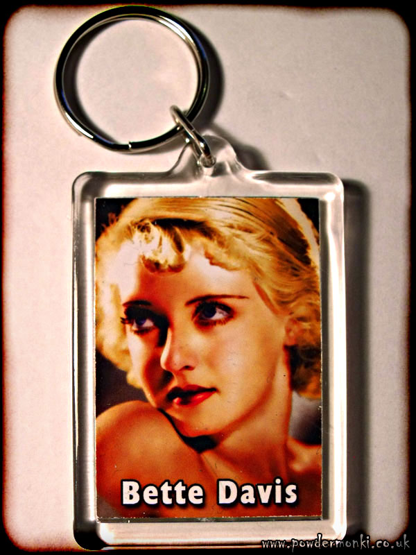 Bette Davis - Retro Movie Star Keyring