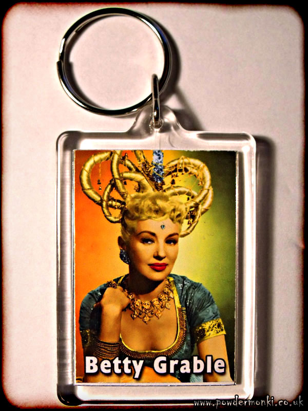 Betty Grable - Retro Movie Star Keyring