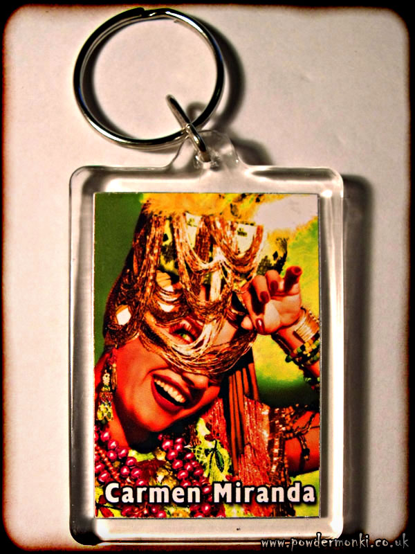 Carmen Miranda - Retro Movie Star Keyring