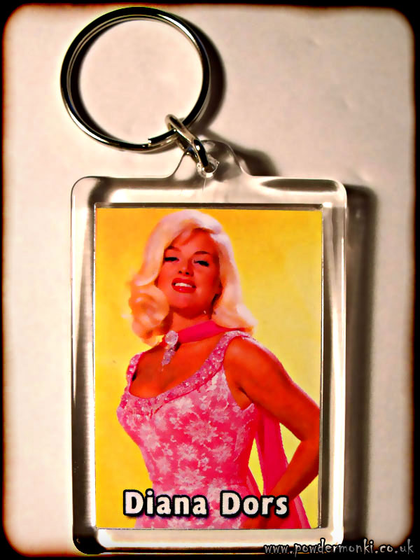 Diana Dors - Retro Movie Star Keyring