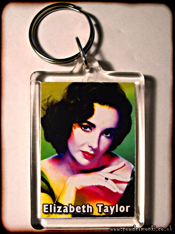 Elizabeth Taylor - Retro Movie Star Keyring