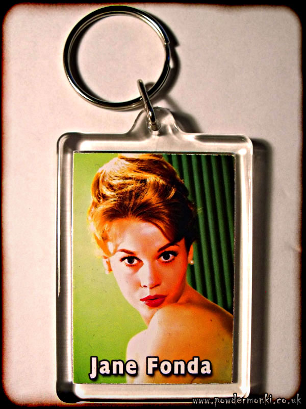 Jane Fonda - Retro Movie Star Keyring