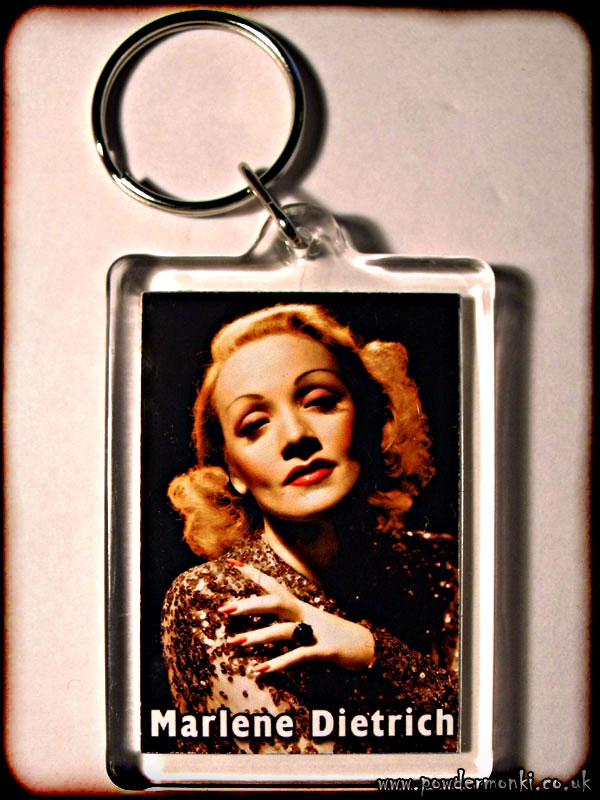 Marlene Dietrich - Retro Movie Star Keyring