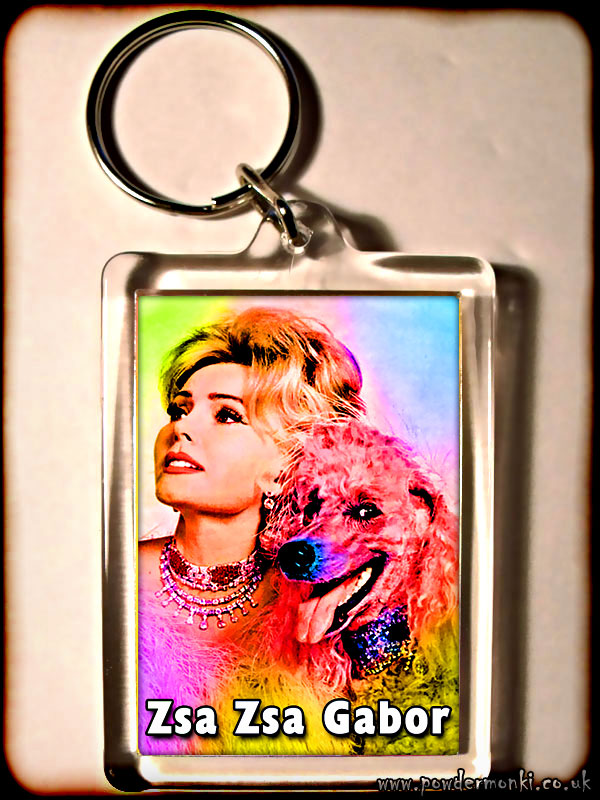 Zsa Zsa Gabor - Retro Movie Star Keyring