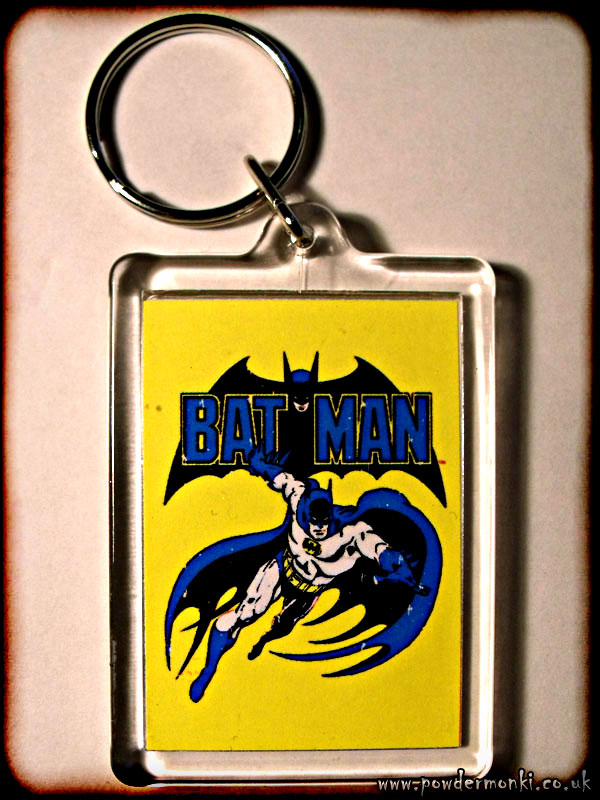 Bat-Man - Retro Superhero Keyring