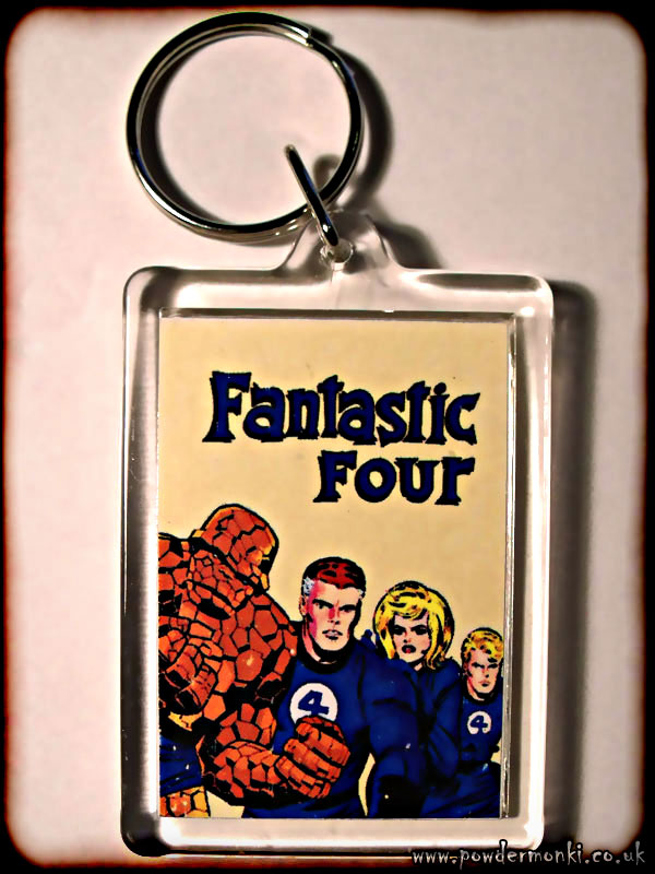 Fantastic Four - Retro Superhero Keyring