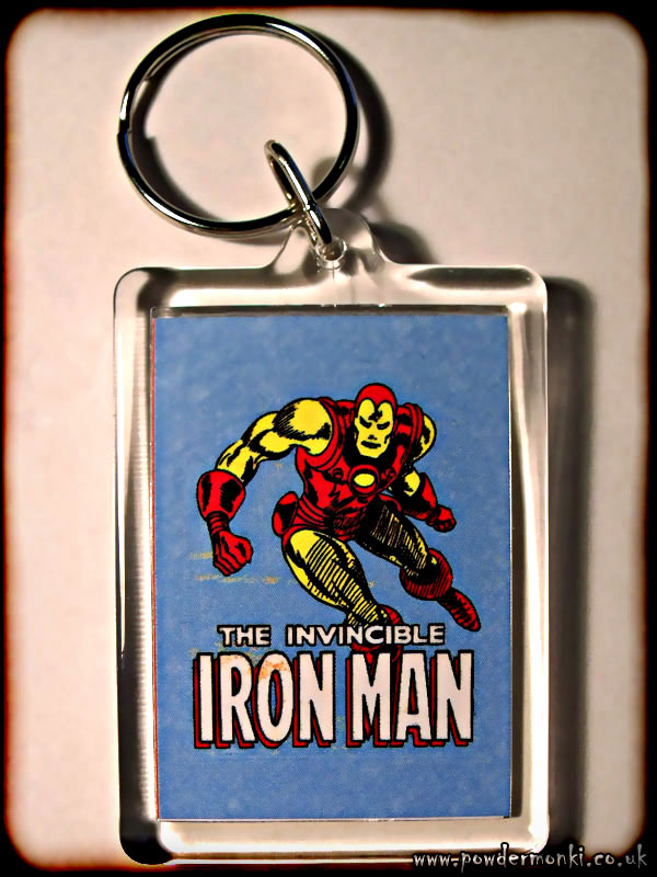 Iron Man - Retro Superhero Keyring
