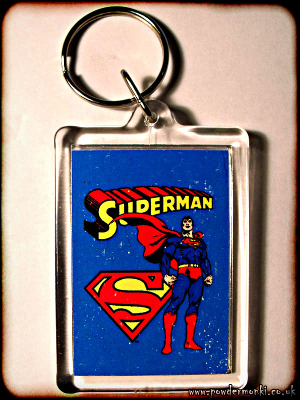 Superman - Retro Superhero Keyring