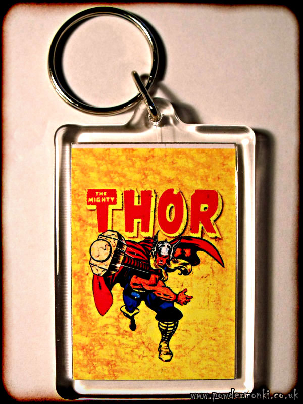 Mighty Thor - Retro Superhero Keyring