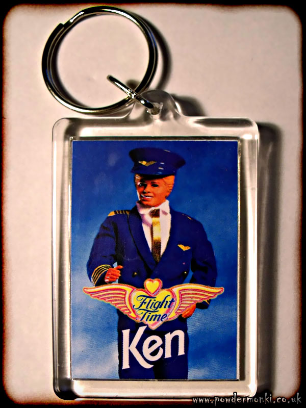 "Barbie ""Flight Time Ken"" - Retro Toy Keyring"