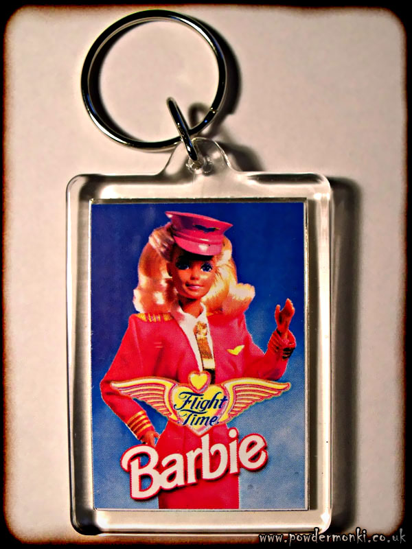 "Barbie ""Flight Time Barbie"" - Retro Toy Keyring"