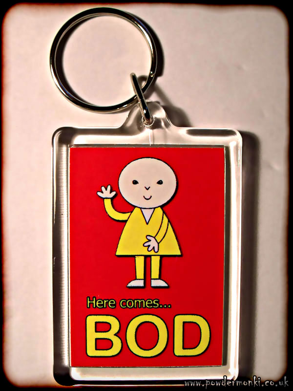 Bod - Retro TV Keyring