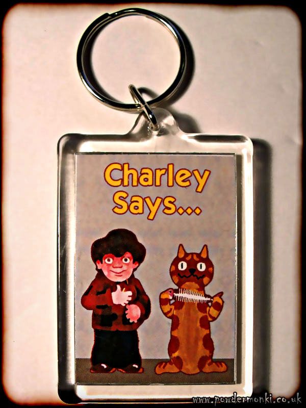 Charley Says - Retro TV Keyring