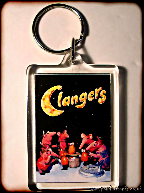 Clanger - Retro TV Keyring