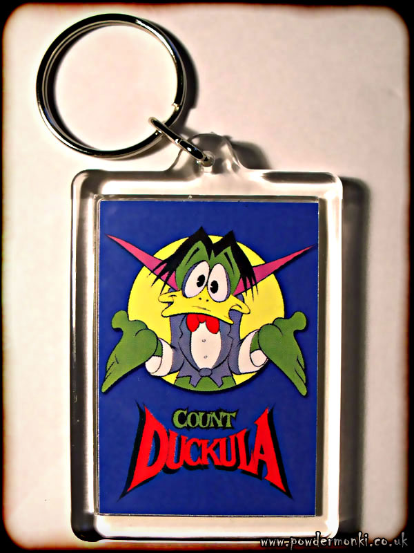 Count Duckula - Retro TV Keyring