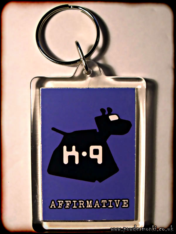 "Doctor Who K-9 ""Affirmative"" - Retro TV Keyring"