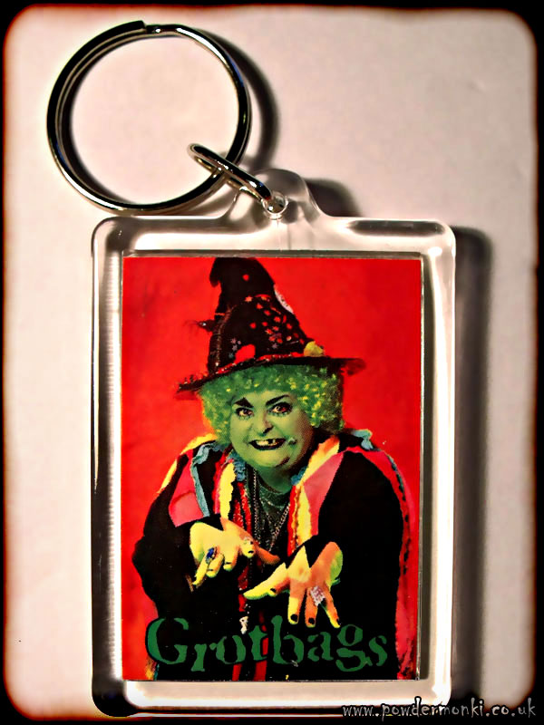 Grotbags - Retro TV Keyring