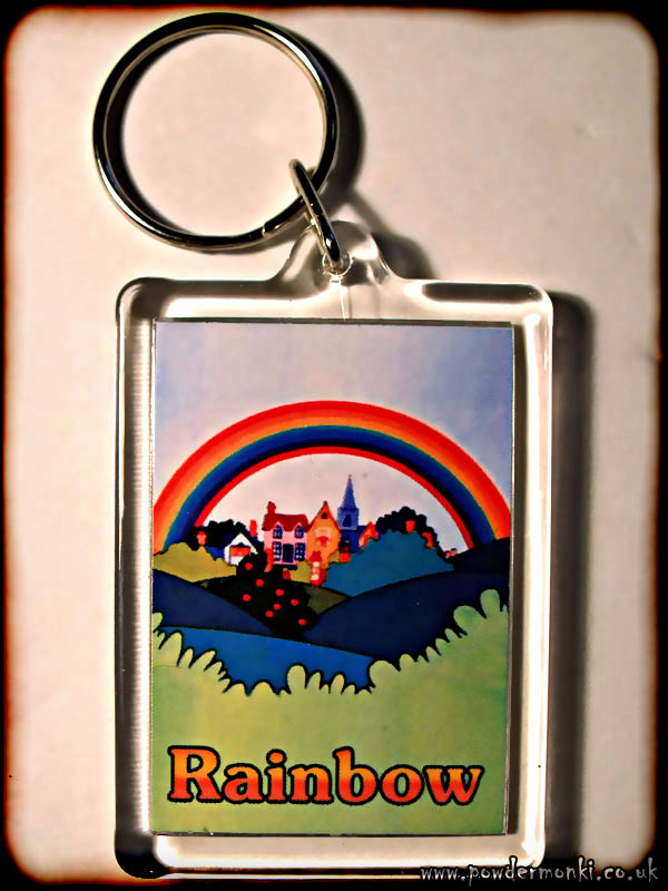 Rainbow - Retro TV Keyring