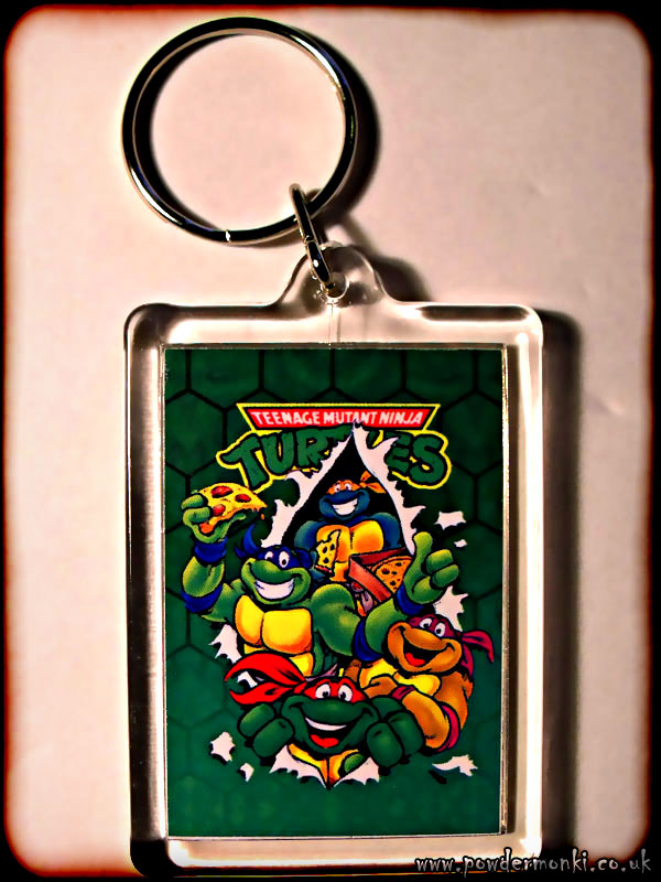 Teenage Mutant Ninja Turtles - Retro TV Keyring