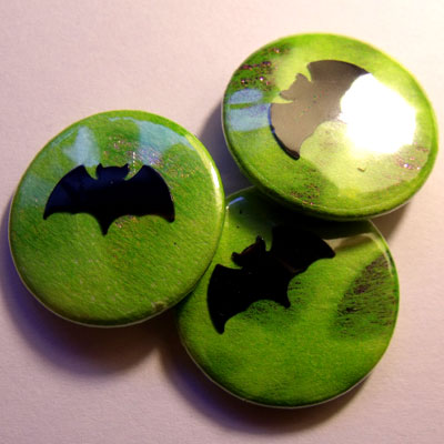Neon Green Bat Badge