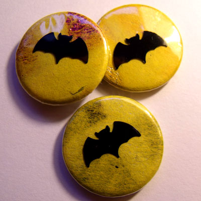 Neon Yellow Bat Badge