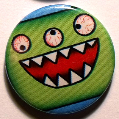 Green Monster Button Badge