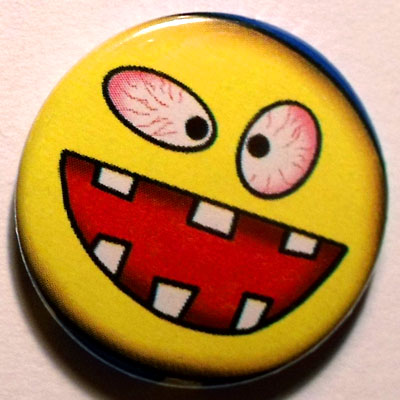 Yellow Monster Button Badge