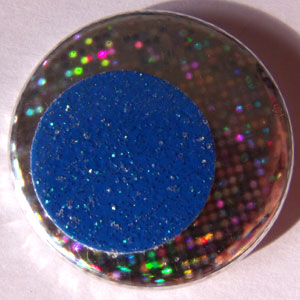 Hologram & Blue Glitter 25mm Button Badge