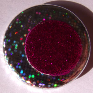 Hologram & Pink Glitter 25mm Button Badge