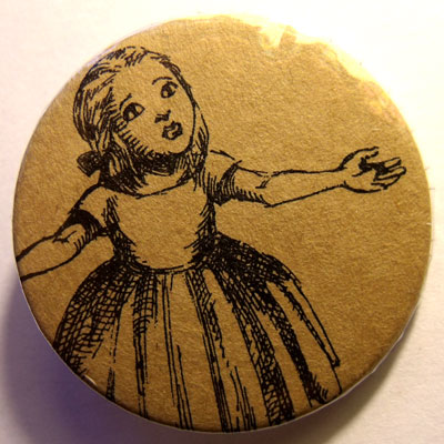 Alice In Wonderland Badge 17